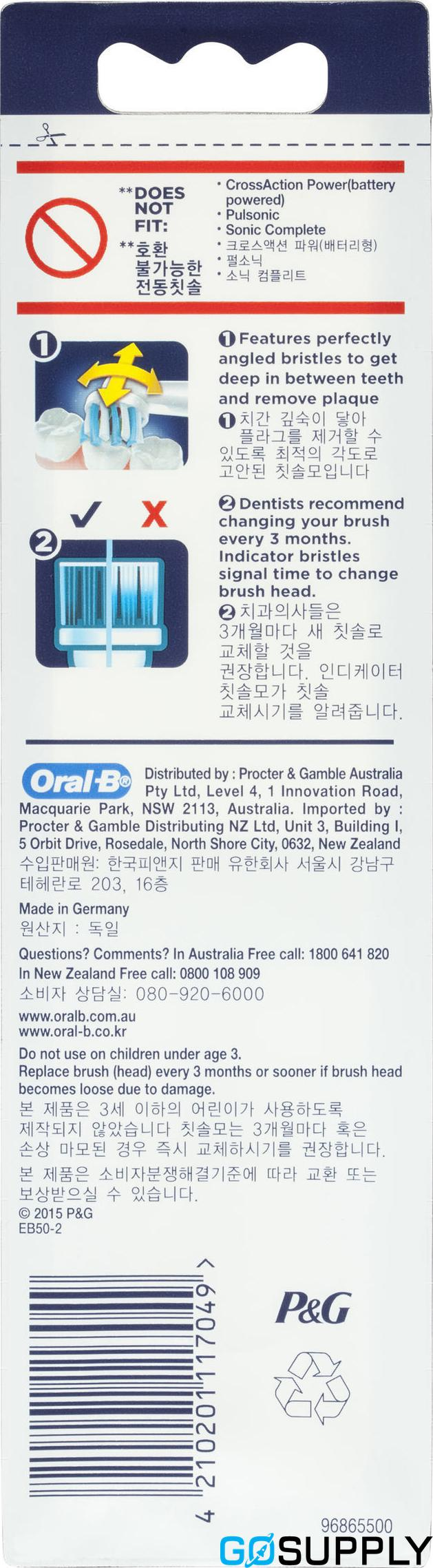 Oral-B CrossAction Replacement Brush Heads 2 Pack