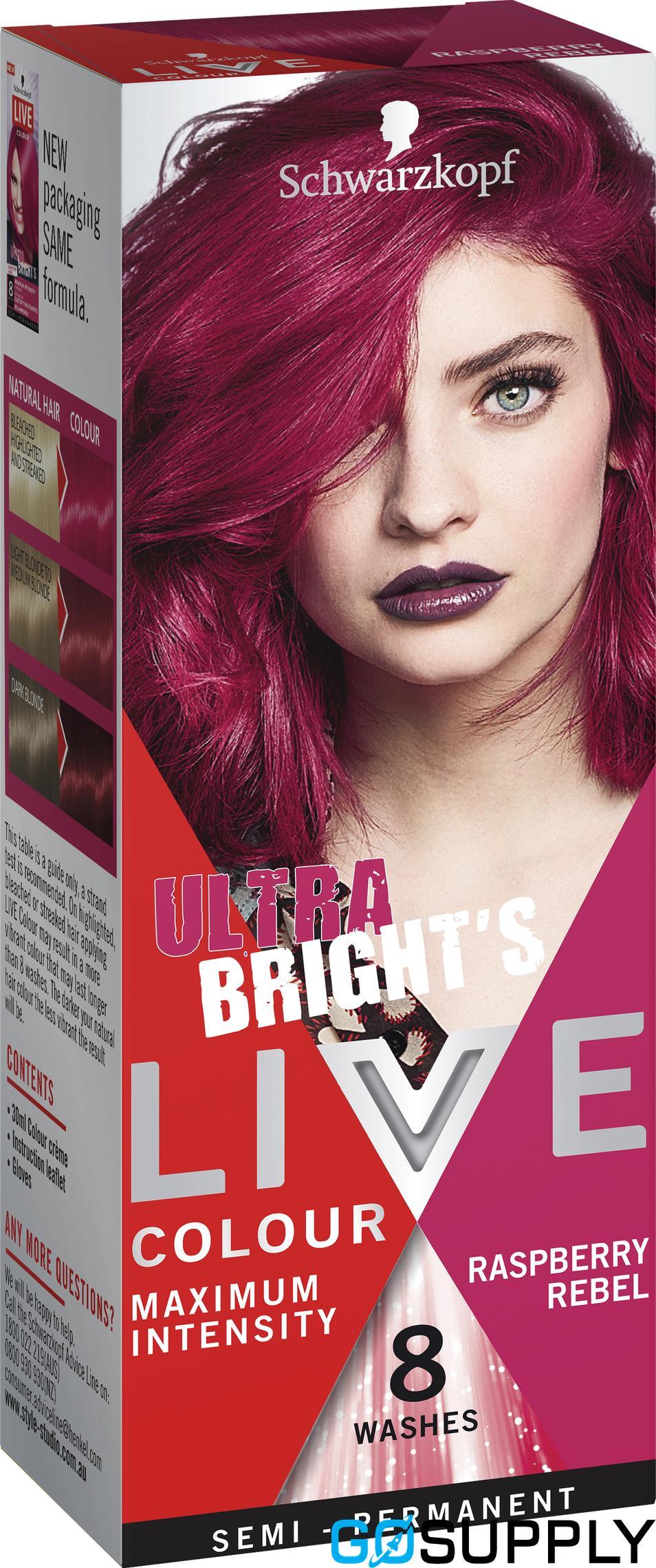 Schwarzkopf Ultra Brights Live Colour Raspberry Rebel