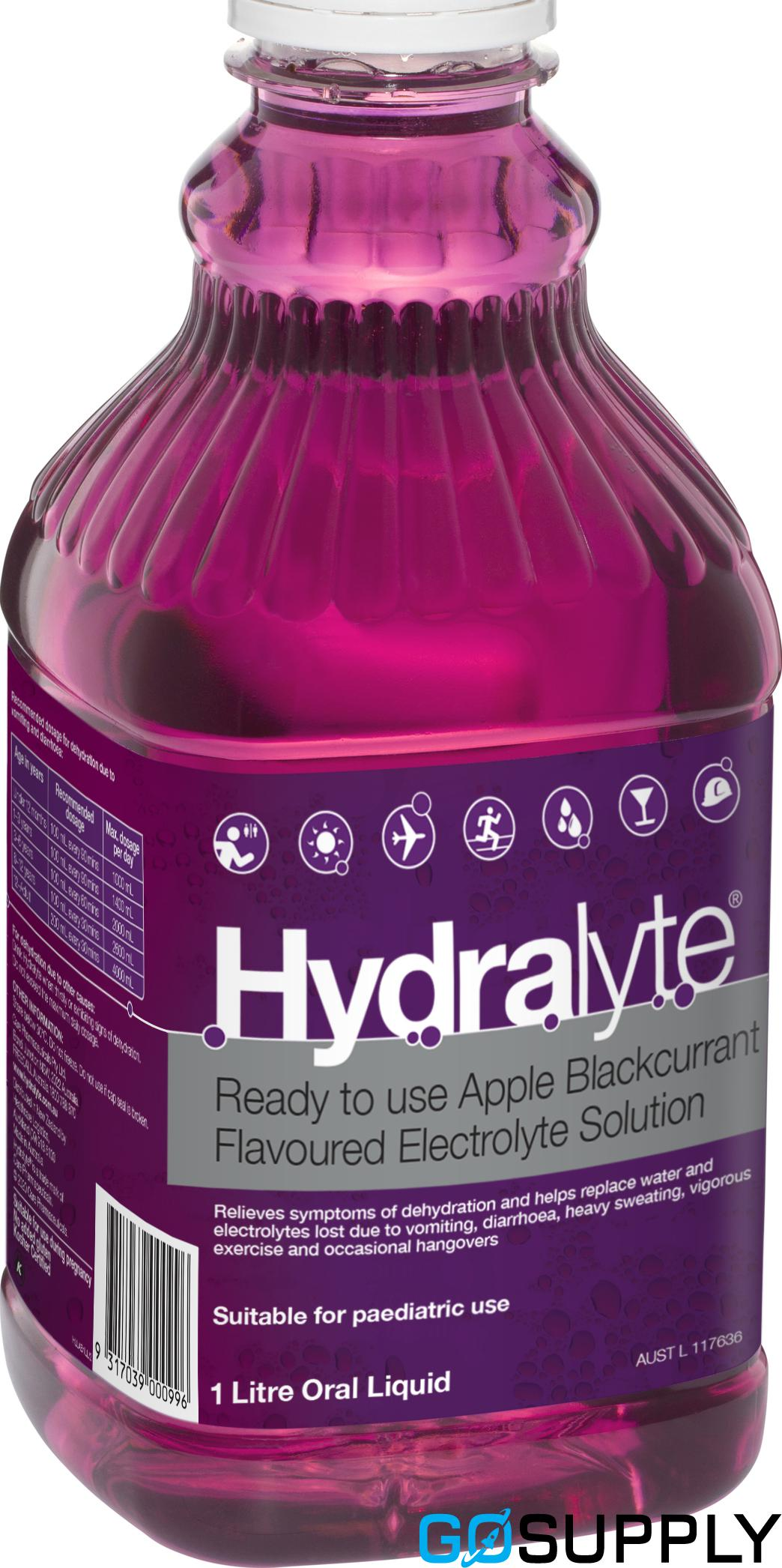 Hydralyte Ready to use Electrolyte Solution Apple Blackcurrant 1L